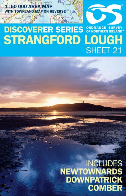 Ordnance Survey Northern Ireland 1:50,000 - Map 21 - Strangford Lough